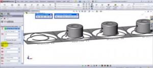 نمونه از طراحی قالب پروگرسیو در نرم افزار سالید ورکس