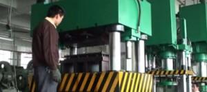 عملکر قالب برش با پرس هیدرولیک 500 تن