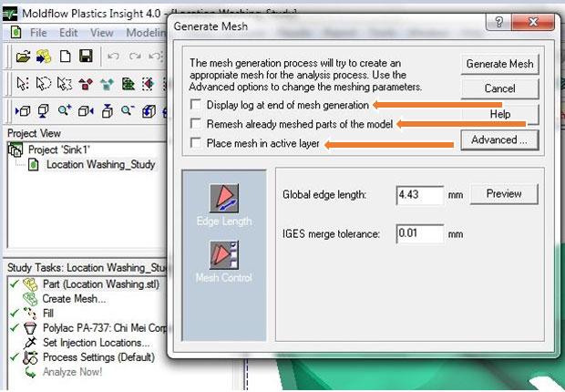 آموزش نرم افزار Mold Flow -مش بندی